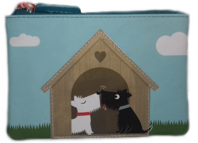 Leather Dogs in Love Coin Purse